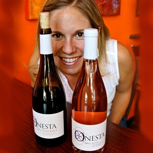 Onesta owner/wine maker Jill Johnson