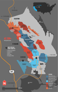 Wine Folly Napa Mapa